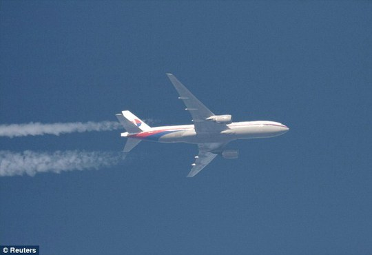 The final picture: The missing jet is pictured here in February this year above Polish airspace