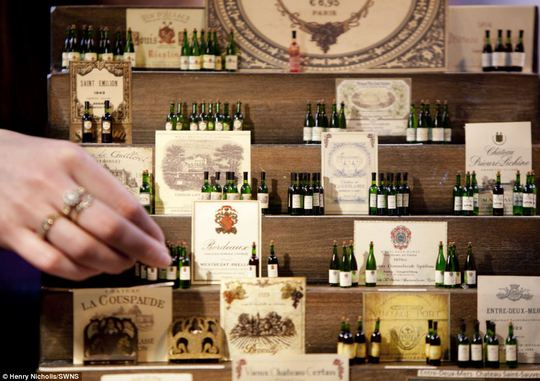 Good things come in small packages: These tiny bottles of fine wine were showcased at the annual Miniatura exhibition and trade show in Birmingham this weekend
