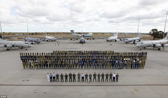 All together: Multinational air-crew and aircraft were involved in operation Southern Indian Ocean