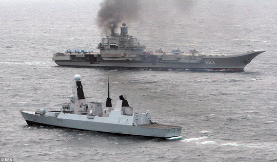 Once the ships spotted each other they briefly sailed close by as a standard meet and greet