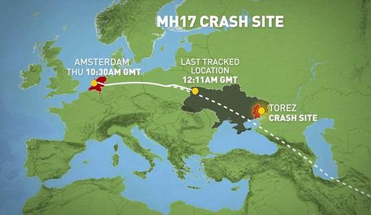 Nếu chọn hành trình bay tránh không phận Ukraine, MH17 sẽ tốn thêm 66 USD cho mỗi hành khách. Ảnh: Daily Mail