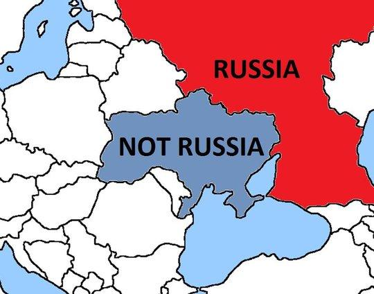 Tấm bản đồ Canada vẽ chế nhạo Nga. Ảnh: Twitter