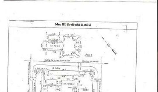 Một phần sơ đồ căn biệt thự được truyền tay nhau khi có thông tin rao bán