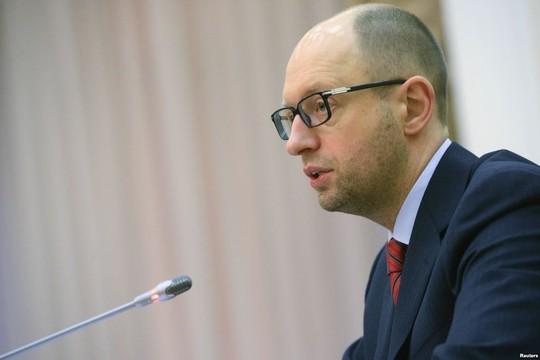 Thủ tướng Ukraine Arseny Yatsenyuk phát biểu tại phiên họp Đại Hội đồng Liên Hiệp Quốc (LHQ) diễn ra ở New York – Mỹ ngày 24-9. Ảnh: Reuters