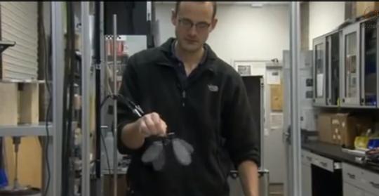 UAV sứa nặng 2,1 g của Mỹ. Ảnh: Youtube