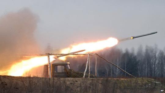 Tên lửa Grad do Nga chế tạo. Ảnh: AP