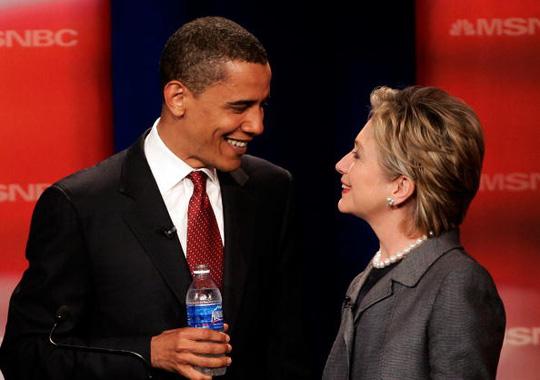 Ông Obama và bà Clinton. Ảnh: Bizpac Review