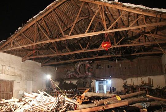 Tòa nhà nơi diễn ra đám cưới làng bị sụp đổ khiến 9 nạn nhân thiệt mạng. Ảnh: China Daily