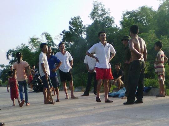 Một vụ người dân huyện Thạch Thành truy đuổi những kẻ trộm chó vào tháng 7-2014