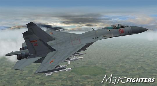 Chiến đấu cơ Su-27 của Trung Quốc. Ảnh: Marc Fighters