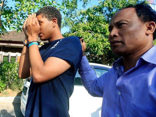 Bạn trai của Heather Mack bị cảnh sát Indonesia bắt giữ. Ảnh: AP