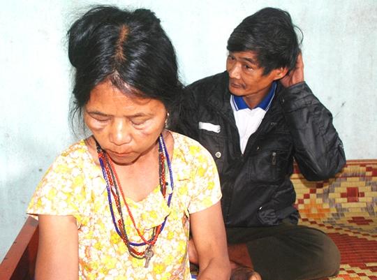 Bà Nới, một trong 2 nạn nhân bị gán là có