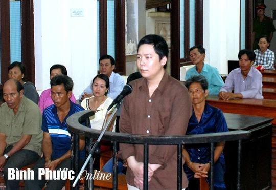 Phan Văn Hội tại phiên tòa chiều nay 4-9