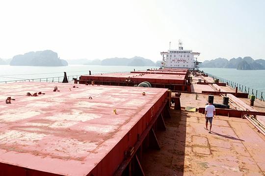 Một trong những con tàu lớn nhất bị bỏ hoang là Green Sea, tàu có trọng tải 76.000 tấn của Vinashin bị nằm chết gí ở vùng biển Hòn Nét, TP Cẩm Phả- Quảng Ninh từ khi được mua về năm 2007 đến nay.