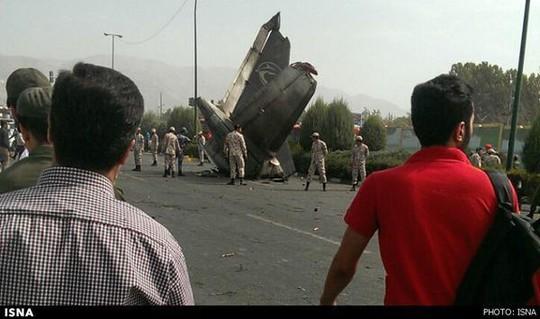 Chiếc máy bay gặp nạn. Ảnh: ISNA