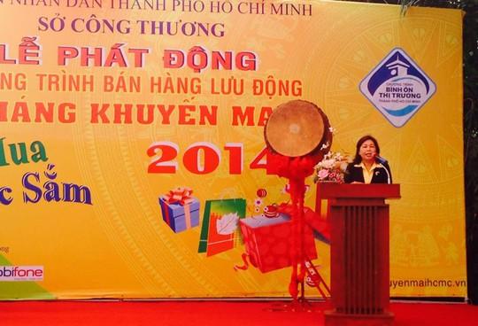 Bà Lê Ngọc Đào - Phó Giám đốc Sở Công thương TP HCM phát biểu tại lễ ra quân