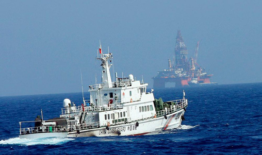 Giàn khoan của Trung Quốc đặt ở vùng biển Việt Nam