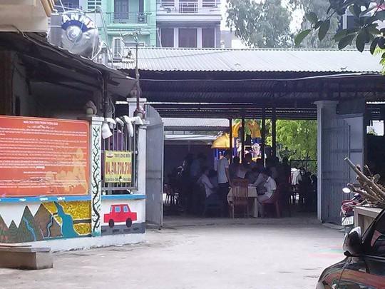 Đoàn thanh tra đang thanh kiểm tra tại chùa Bồ Đề