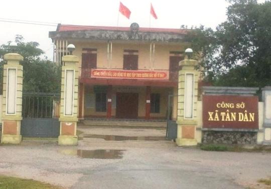 Công sở xã Tân Dân , nơi ông Nguyễn Khắc Minh đang công tác
