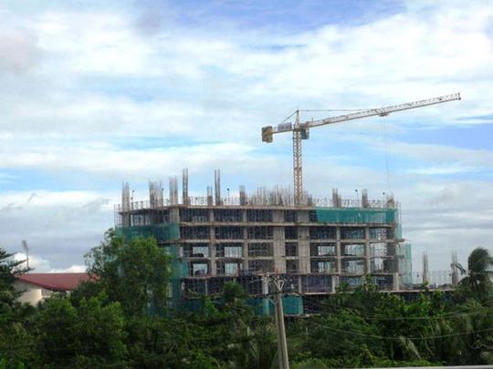 Công trình đã xây được 6/23 tầng dù phần thân chưa được cấp phép