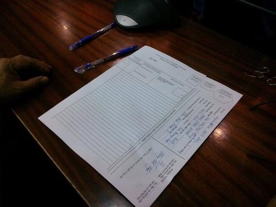 Giấy thi như giấy dành cho thí sinh thi Đại học