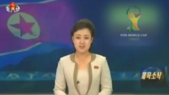 Bản tin giả về việc đội tuyển Triều Tiên vào cúng kết World Cup 2014. Ảnh: Youtube