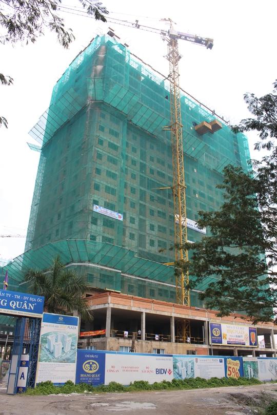 Một dự án nhà ở xã hội tại quận Bình Tân chuẩn bị cất nóc.