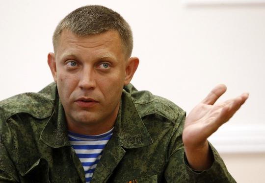 Thủ lĩnh ly khai Alexander Zakharchenko. Ảnh: Reuters