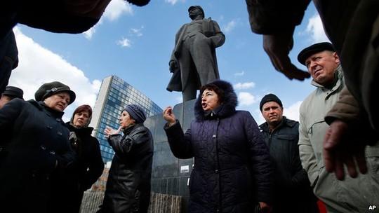 Liệu thành phố miền Đông Donetsk có muốn trưng cầu dân ý đòi tự trị giống Crimea? Ảnh: AP
