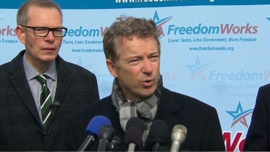 Thượng nghị sĩ Rand Paul kiên quyết kiện Tổng thống Mỹ Obama. Ảnh: CNN
