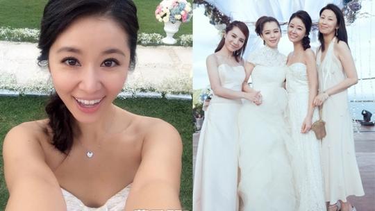 Lâm Tâm Như rạng rỡ tại đám cưới Nhược Tuyên