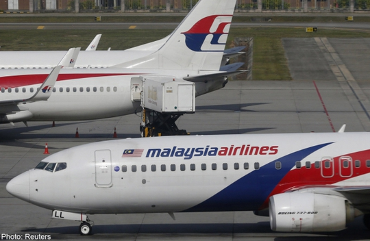 Máy bay Malaysia Airlines. Ảnh: Reuters