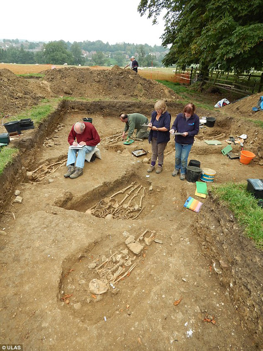 Nhiều bộ xương được khai quật