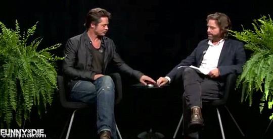 Brad Pitt và danh hài Zach Galifianakis