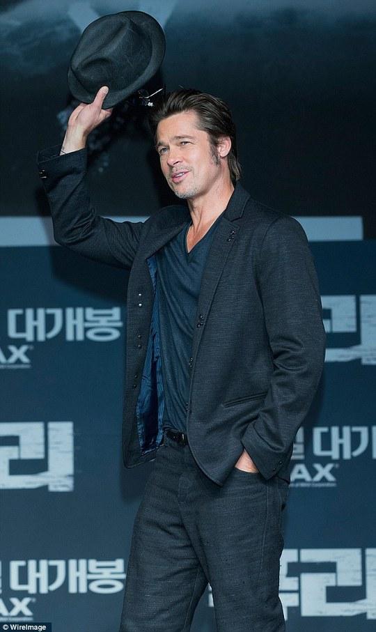 Brad Pitt cuốn hút tại Hàn Quốc