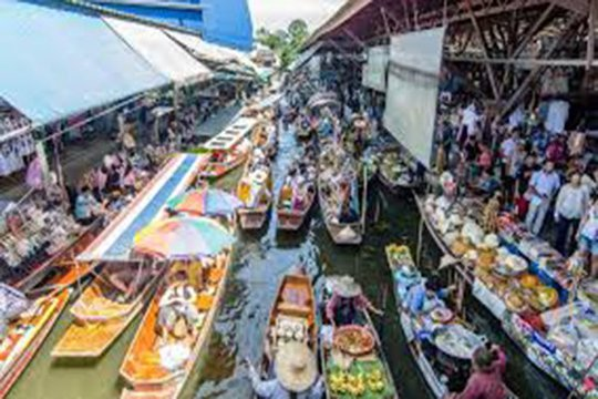 Chợ nổi ở Thái Lan