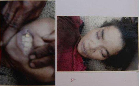 Hình ảnh người phụ nữ được cho là treo cổ tự tử