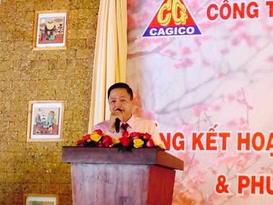 Ông Nguyễn Công Thuận - Tổng Giám đốc Công ty CP TM DV Cần Giờ báo cáo về hoạt động SXKD