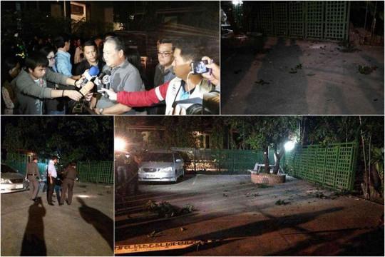 Một quả lựu đạn M26 bị ném vào nhà riêng của Thống đốc Bangkok Sukhumbhand Paribatra tối 16-1  Ảnh: Bangkok Post