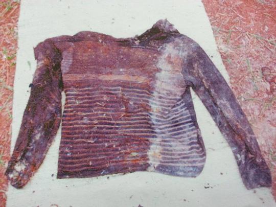 Chiếc áo nạn nhân mặc trên người