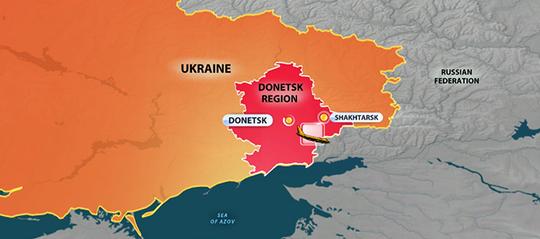 Khu vực máy bay rơi gần biên giới Nga - Ukraine. Nguồn: RT