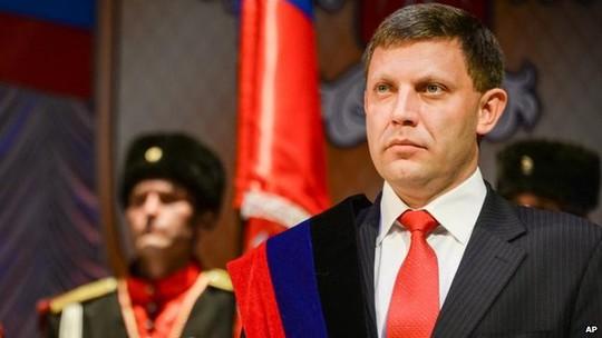 Tổng thống Cộng hòa Nhân dân Donetsk tự xưng Alexander Zakharchenko. Ảnh: AP