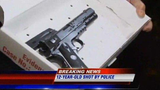 Khẩu súng mà Tamir Rice sử dụng. Ảnh: WOIO