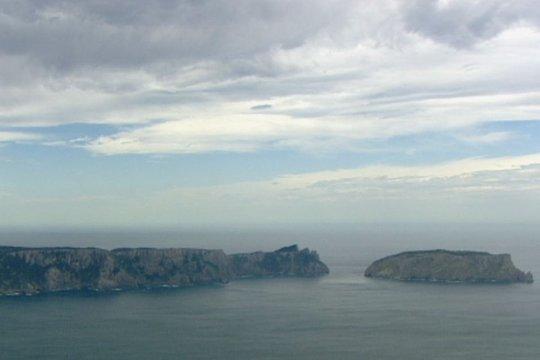 Vịnh Storm, nơi máy bay Úc bị rơi. Ảnh: ABC