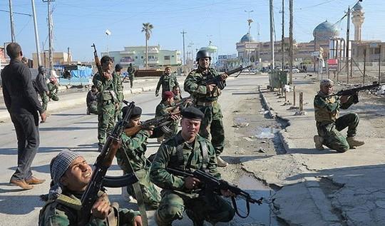 Quân đội Iraq đã chiếm lại các thành phố và thị trấn Al Dhuluiya, Al Ishaqi, Al-Mutasim với sự hỗ trợ của các bộ tộc địa phương. Ảnh: Iraqi News