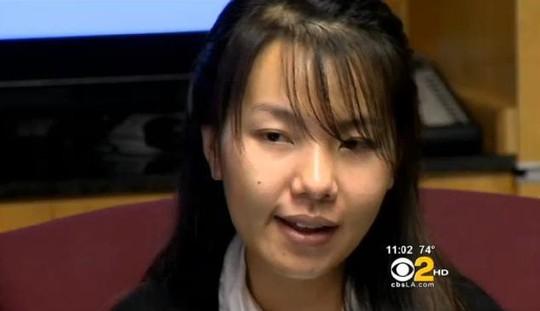 Kim Nguyen, cô gái nhảy khỏi xe cảnh sát vì bị tấn công tình dục. Ảnh: CBS LOS ANGELES