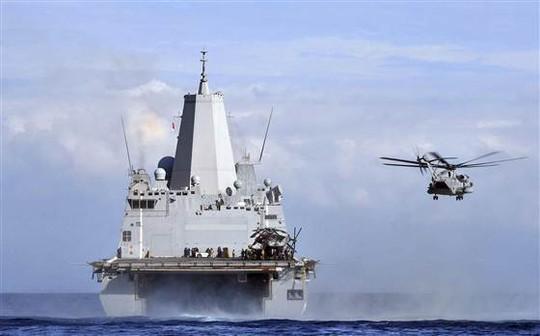 Tàu đổ bộ vận chuyểnUSS Mesa Verde của Mỹ. Ảnh: Reuters
