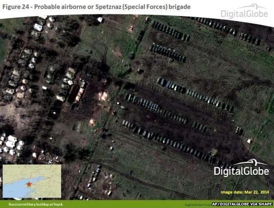 Ảnh vệ tinh do NATO công bố hôm 9-4. Ảnh: AP