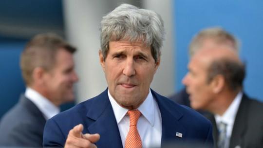 """Triều Tiên gọi Ngoại trưởng Kerry là """"con sói với bộ hàm ghê tởm. Ảnh: AP"""