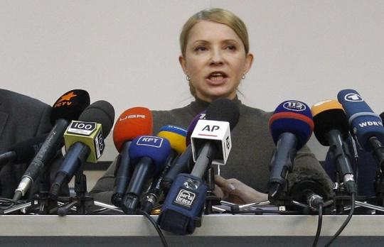 Bà Yulia Timoshenko, ứng viên Tổng thống Ukraine. Ảnh: ITAR-TASS